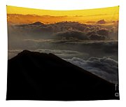 Haleakala Hawaii Sunrise Cloudscape  Tapestry