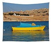 Halki Fishing Boat Tapestry