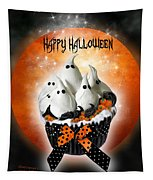 Halloween Ghost Cupcake 1 Tapestry