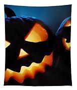 Halloween Pumpkins Closeup -  Jack O'lantern Tapestry by Johan Swanepoel