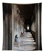 Hallway At Angkor Wat Tapestry