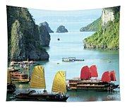 Halong Bay Sails 01 Tapestry