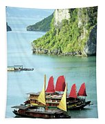 Halong Bay Sails 02 Tapestry