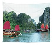 Halong Bay Sails 04 Tapestry