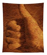 Hand With Thumbs Up Sign Tapestry
