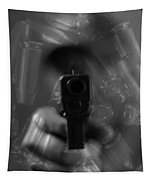 Handgun And Ammunition Tapestry