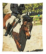 Hang On To Your Painted Horse Tapestry