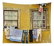 Hanging Clothes Of Old Europe II Tapestry