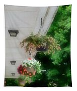 Hanging Flower Baskets On A Porch  Tapestry