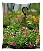 Hanging Flower Baskets Shallow Dof Tapestry