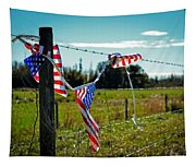 Hanging On - The American Spirit By William Patrick And Sharon Cummings Tapestry