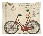 Happiness Is My Bicycle Tapestry