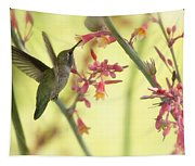 Happy As A Hummingbird  Tapestry