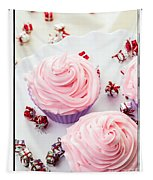 Happy Birthday Cupcakes Tapestry