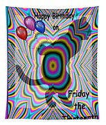 Happy Birthday On Friday The 13th Tapestry