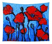Happy Coquelicots Tapestry