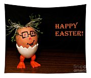 Happy Easter Greeting Card. Funny Eggmen Series Tapestry