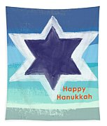 Happy Hanukkah Card Tapestry