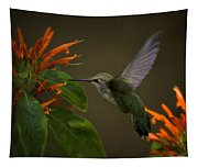 Happy Little Hummingbird  Tapestry