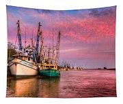 Harbor Sunset Tapestry