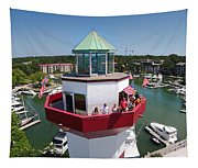 Harbor Town Lighthouse In Hilton Head Tapestry