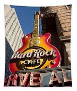 Hard Rock Cafe Guitar Sign In Philadelphia Tapestry