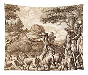 Hare Hunting, Engraved By Wenceslaus Tapestry