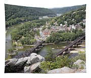 Harpers Ferry Viewed From Maryland Heights Tapestry