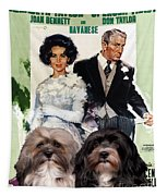 Havanese Art - Father Of The Bride Movie Poster Tapestry