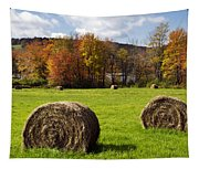 Hay Bales And Fall Colors Tapestry