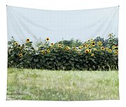 Hay Bales And Sunflowers Tapestry