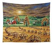 Hay Stacks Tapestry