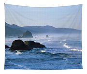 Haystack Rocks In Cannon Beach Tapestry
