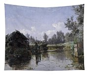 The Lake In Friesland Tapestry