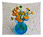 He Loves Me Bouquet Tapestry