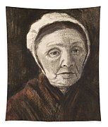 Head Of An Old Woman In A Scheveninger Tapestry