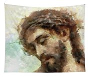 The Head Of Christ Tapestry