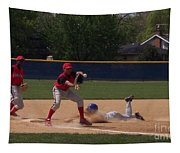 Head Slide In Baseball Tapestry