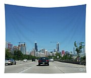 Heading North On Lake Shore Drive In Chicago Tapestry