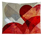 Hearts 8 Square Tapestry