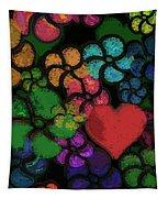 Heart In Flowers Tapestry
