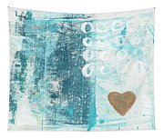 Heart In The Sand- Abstract Art Tapestry