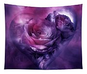 Heart Of A Rose - Burgundy Purple Tapestry