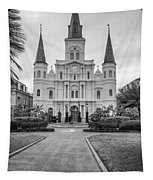 Heart Of The French Quarter Monochrome Tapestry