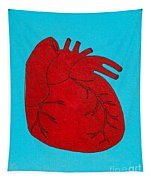 Heart Red Tapestry