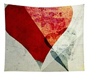 Hearts 6 Square Tapestry