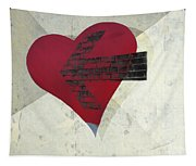 Hearts 7 Square Tapestry