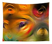 Heaven's Eyes - Abstract Art By Sharon Cummings Tapestry