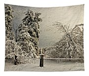 Heavy Laden Blizzard Tapestry