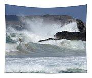 Heavy Surf Action Fernando De Noronha Brazil 1 Tapestry